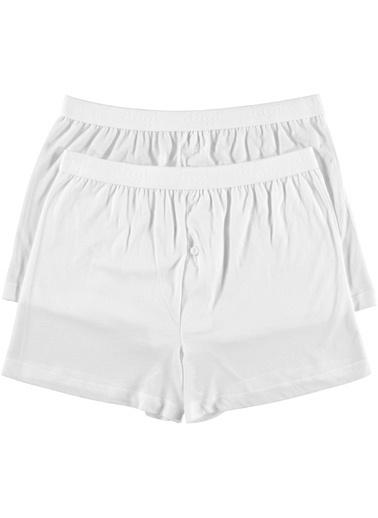 Dagi Penye Modal Boxer 2'li Beyaz